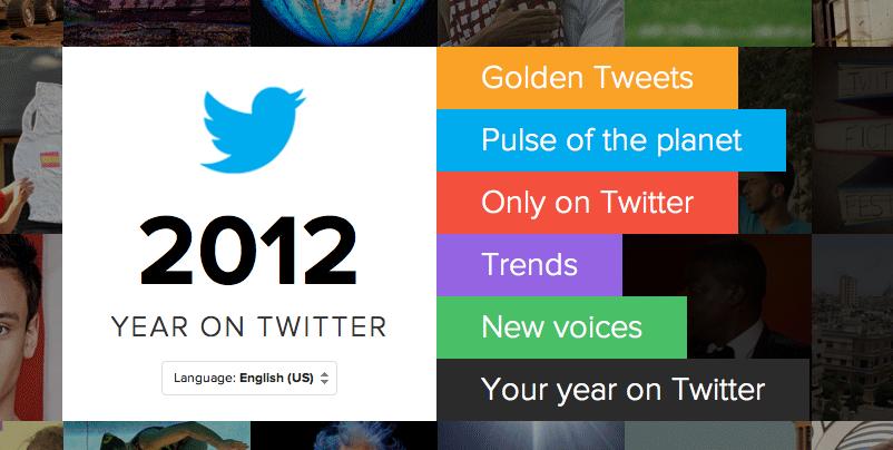 Το 2012 στο twitter.