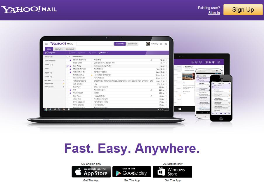 Το καινούριο mail της Yahoo..
